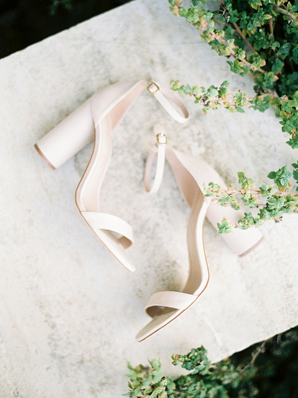Bridal Shoes | Elopement Inspiration at Methoni Castle, Greece | Elisabeth Van Lent Photography