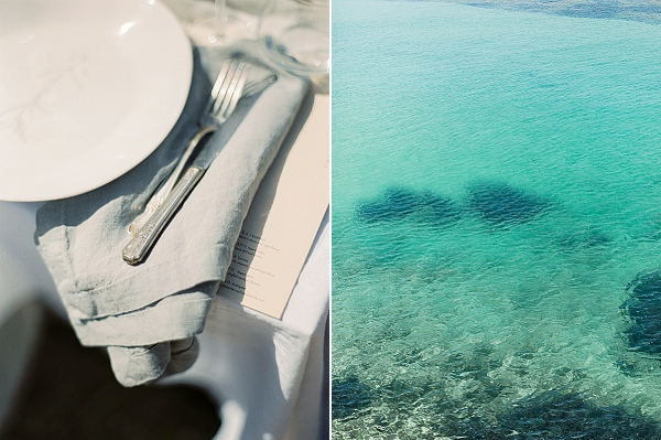 Place Setting | Elopement Inspiration at Methoni Castle, Greece | Elisabeth Van Lent Photography