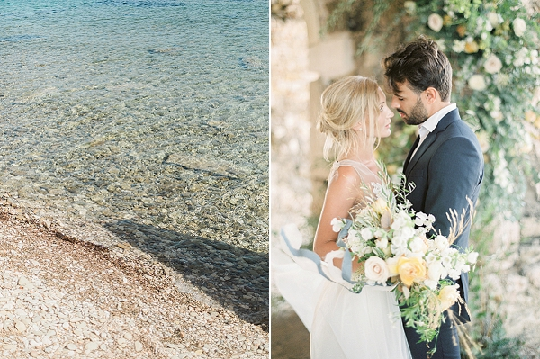 Bride and Groom In Greece | Elopement Inspiration at Methoni Castle, Greece | Elisabeth Van Lent Photography