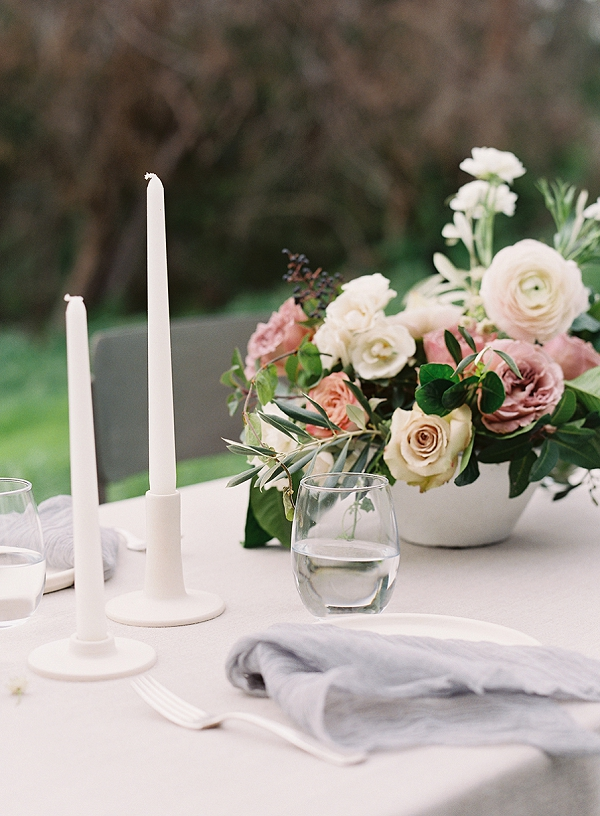 Tablescape | Romantic Floral Wedding Inspiration By Sara Weir Photography