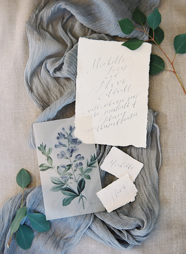 Calligraphy Wedding Invitation Suite | Romantic Floral Wedding Inspiration By Sara Weir Photography