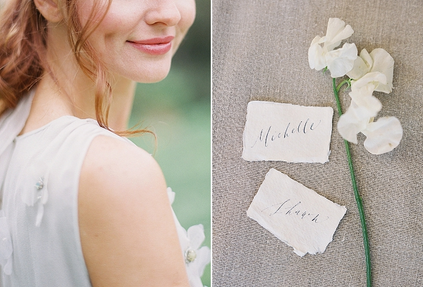 Calligraphy Place Cards | Romantic Floral Wedding Inspiration By Sara Weir Photography