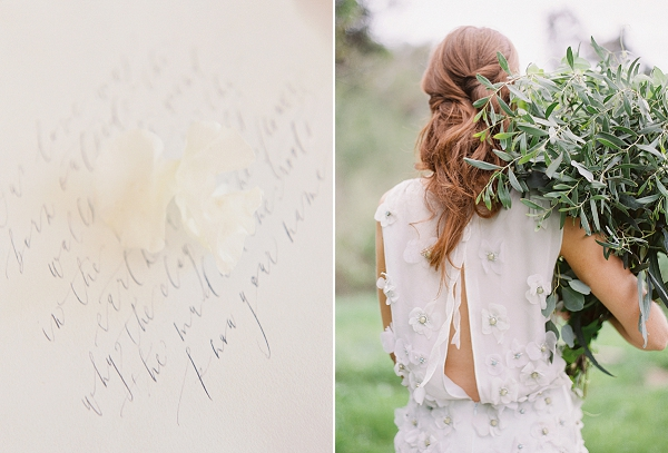 Calligraphy | Romantic Floral Wedding Inspiration By Sara Weir Photography