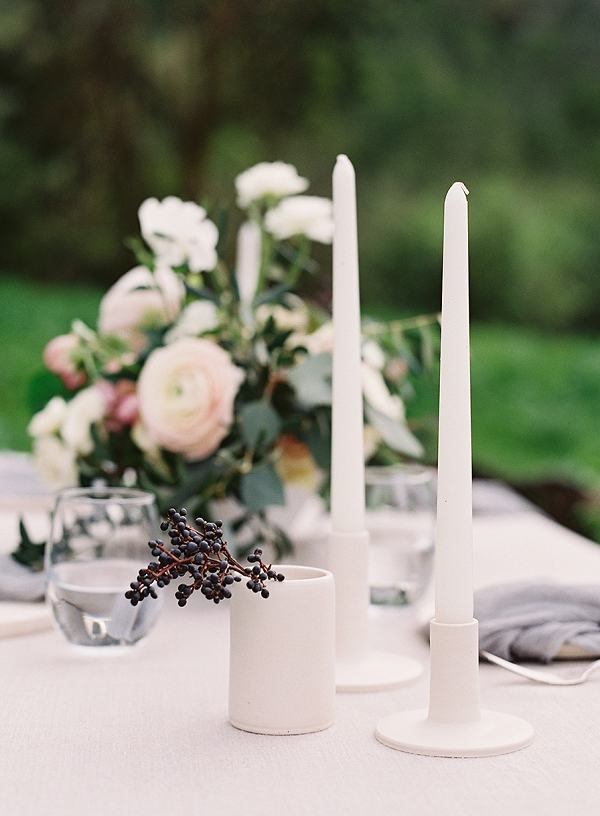 Candles | Romantic Floral Wedding Inspiration By Sara Weir Photography