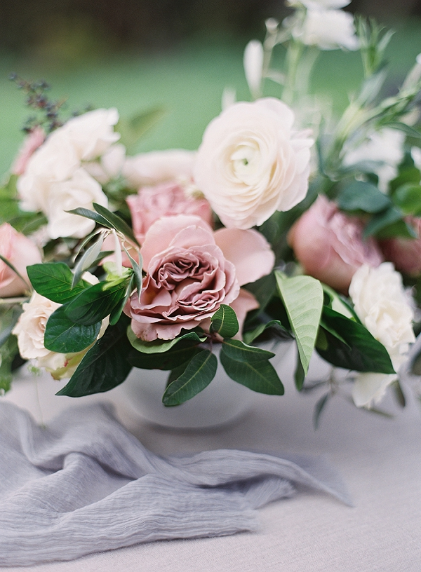 Floral Centerpiece | Romantic Floral Wedding Inspiration By Sara Weir Photography