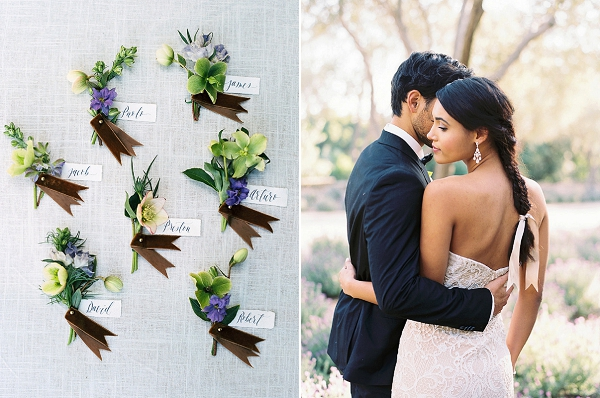 Boutonnieres | Classically Elegant Lavender Wedding Inspiration at San Ysidro Ranch by Jen Rodriguez Photography