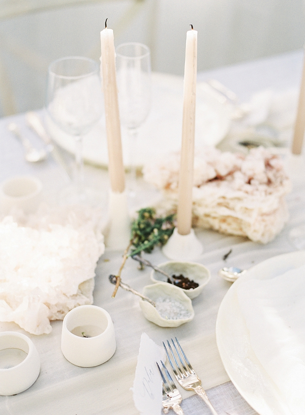 Tablescape Decor | Enchanting Crystal Wedding Ideas from Lisa Catherine Photography