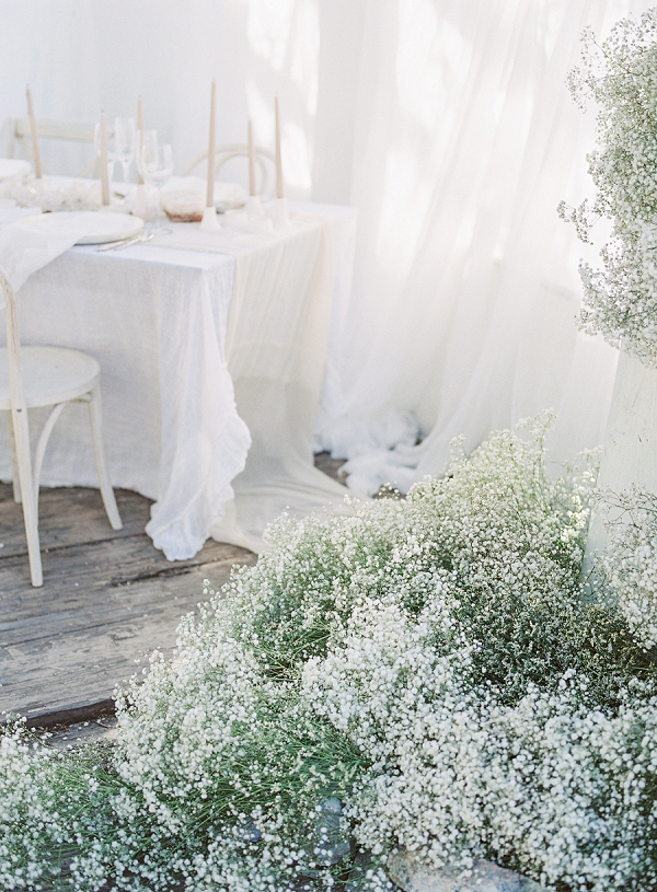 Baby's Breath Installations | Enchanting Crystal Wedding Ideas from Lisa Catherine Photography