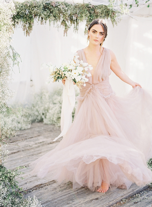 Bride In Pink | Enchanting Crystal Wedding Ideas from Lisa Catherine Photography