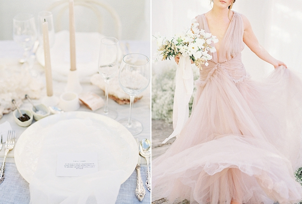 Place Setting | Enchanting Crystal Wedding Ideas from Lisa Catherine Photography
