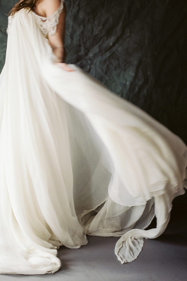 A Carol Hannah Wedding Dress | Ethereal Greenhouse Wedding Inspiration from Brushfire Photography