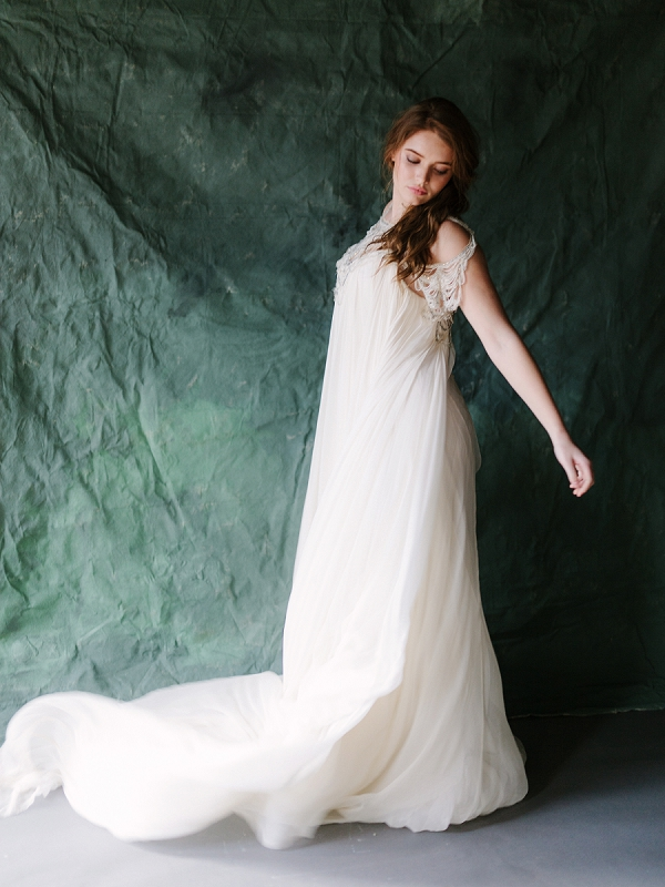 Carol Hannah Wedding Dress | Ethereal Greenhouse Wedding Inspiration from Brushfire Photography