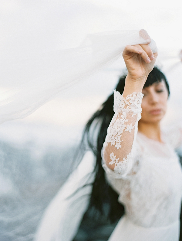 Long Sleeved Lace Wedding Dress | Maui Bridal Portrait Ideas from Carmen Santorelli Photography