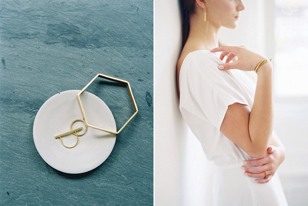 Bridal Jewelry for the Modern Bride | Minimalist Modern Wedding Ideas From Gianny Campos