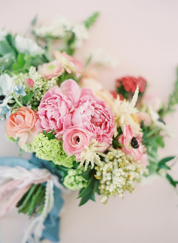 Peach and Blush Pink Bouquet | Monet Garden Wedding Inspiration by Nathalie Cheng