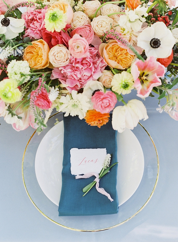 Place Setting | Monet Garden Wedding Inspiration by Nathalie Cheng