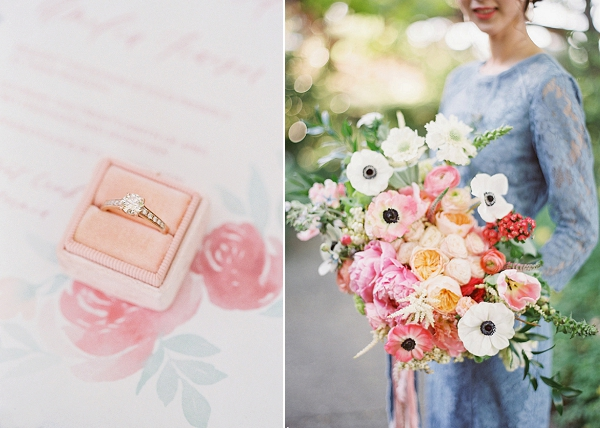 Overflowing Organic Bridal Bouquet | Monet Garden Wedding Inspiration by Nathalie Cheng Photography