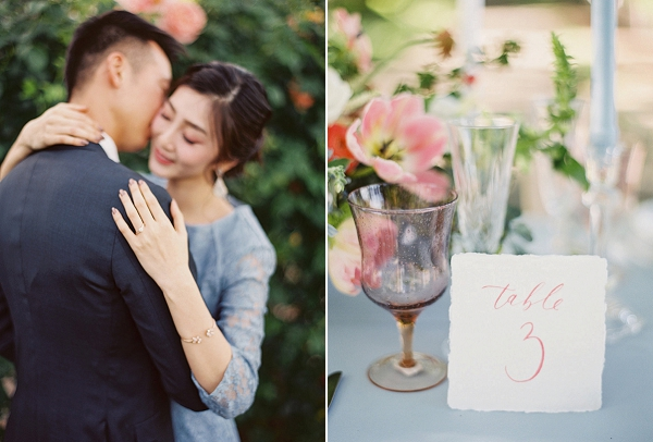 Table Number Calligraphy | Monet Garden Wedding Inspiration by Nathalie Cheng Photography