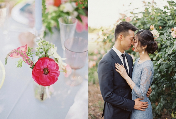 Bride and Groom | Monet Garden Wedding Inspiration by Nathalie Cheng Photography