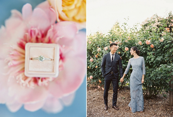 Engagement Ring | Monet Garden Wedding Inspiration by Nathalie Cheng Photography