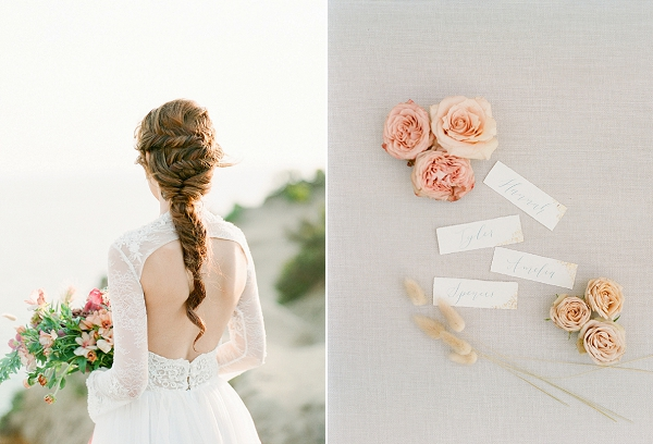 Braided Bridal Hairstyle | Cliffside Hawaii Wedding Inspiration By Koman Photography