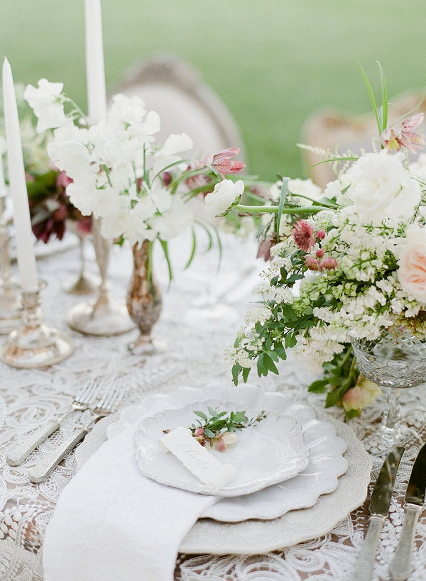Place Setting | European Inspired Wedding Ideas With Old World Elegance by Jeanni Dunagan Photography