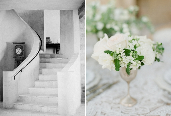 Low Floral Centerpiece | European Inspired Wedding Ideas With Old World Elegance by Jeanni Dunagan Photography