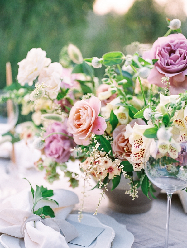 Garden Wedding Centerpiece | French Provence Wedding Inspiration by Savan Photography