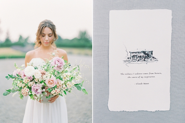 Illustrated Wedding Stationery | French Provence Wedding Inspiration by Savan Photography