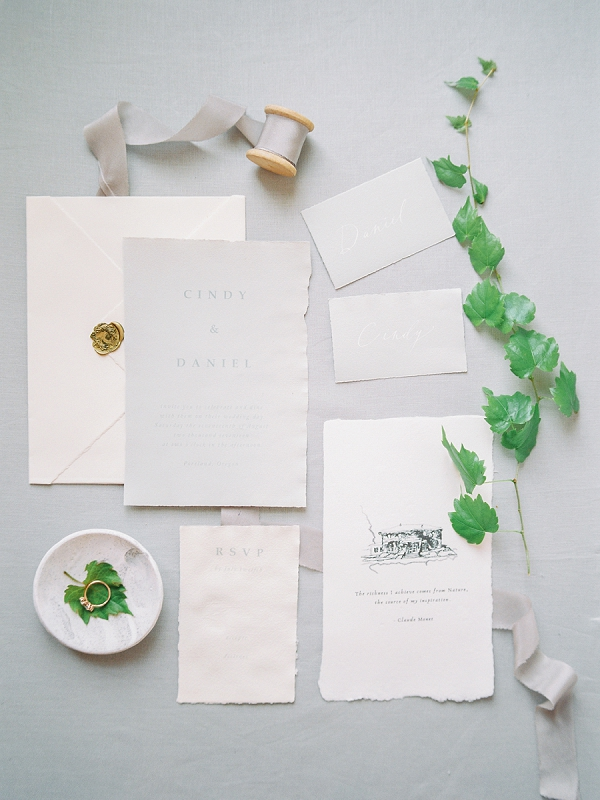 Elegant Invitation Suite | French Provence Wedding Inspiration by Savan Photography