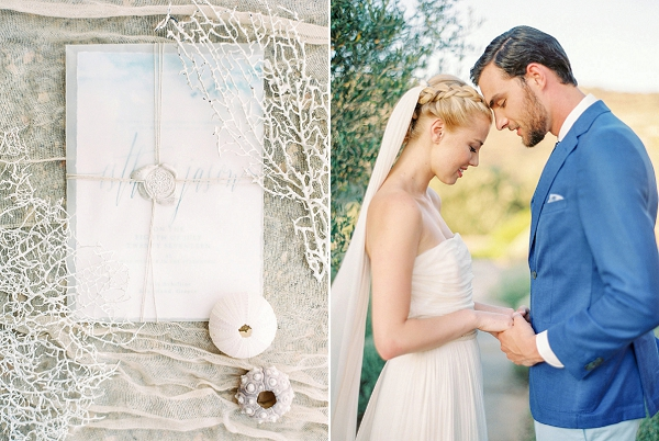 Invitation with Wax Seal | Seaside Elopement Inspiration by Darya Kamalova of Thecablookfotolab