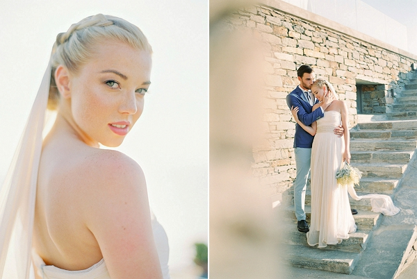 Bride in Greece | Seaside Elopement Inspiration by Darya Kamalova of Thecablookfotolab