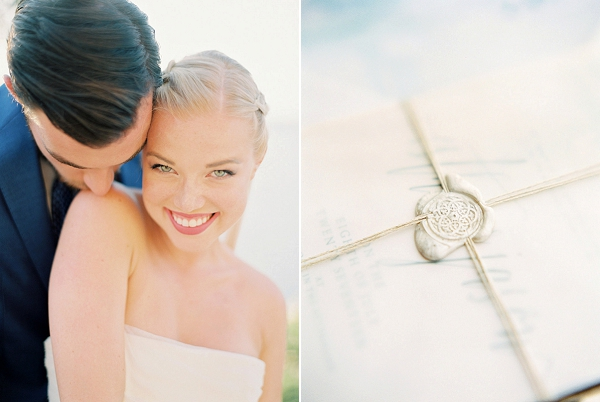 Bride and Groom | Seaside Elopement Inspiration by Darya Kamalova of Thecablookfotolab