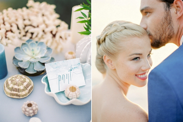Bride and Groom Photo | Seaside Elopement Inspiration by Darya Kamalova of Thecablookfotolab