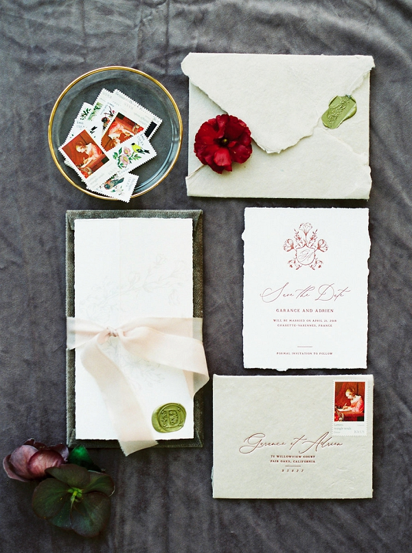 Wedding Stationery | Jenzel Velo Photography from the Sylvie Gil Workshop in France