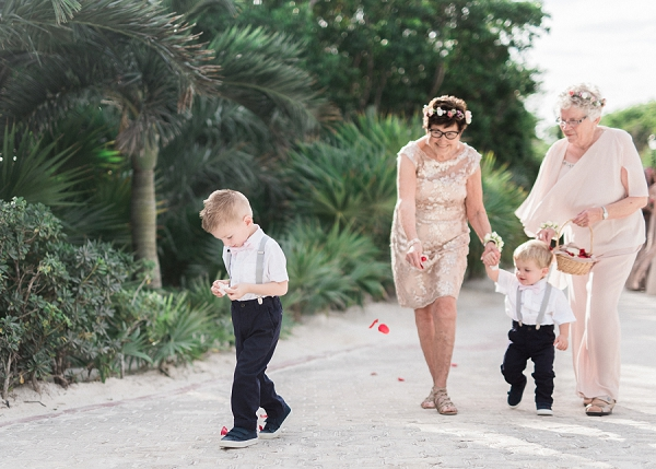 Grandmothers as Flower Girls | Tropical Tulum Wedding By Mason Neufeld Photography