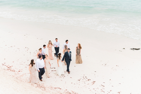 Bridal Party on the Beach | Tropical Tulum Wedding By Mason Neufeld Photography