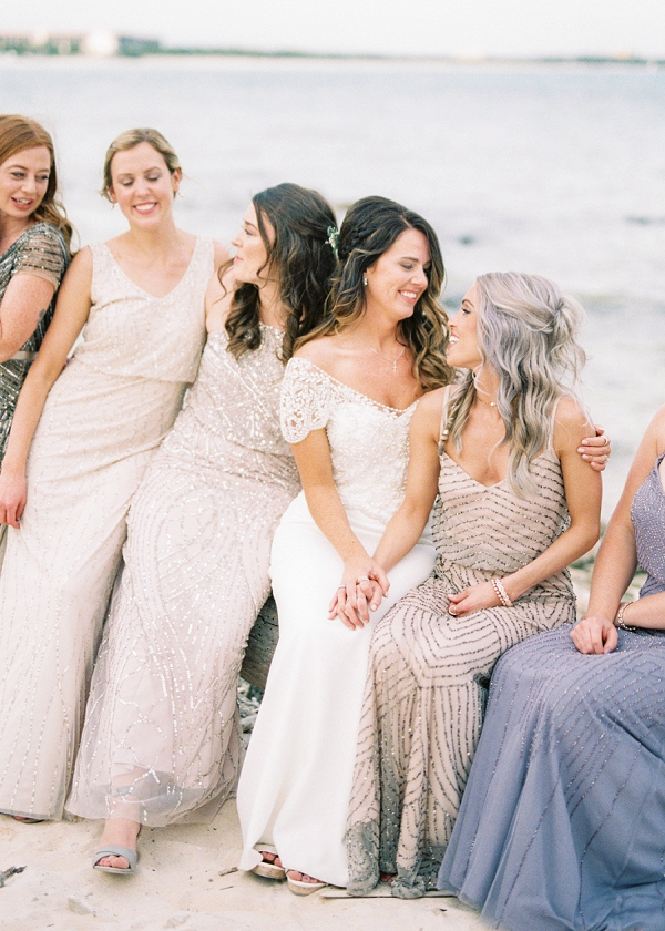 Bride and Bridesmaids | Tropical Tulum Wedding By Mason Neufeld Photography