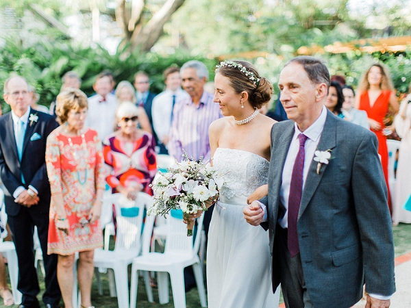 Bride and Father of the Bride | Colourful Backyard Barbados Wedding by Corynn Fowler Photography