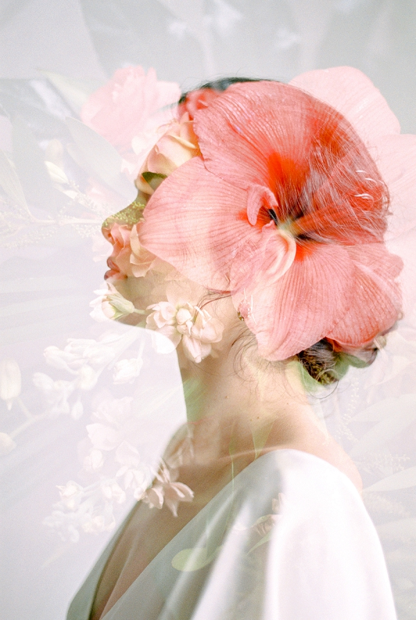 Double Exposure Bridal Photography | Indoor Tropical Wedding Inspiration by Kerry Jeanne Photography
