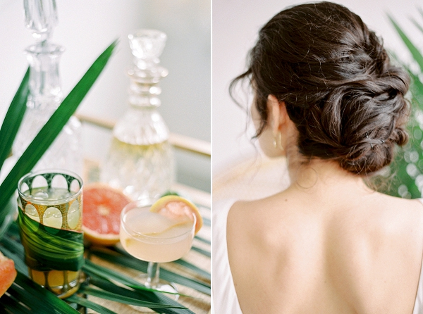 Bridal Updo | Indoor Tropical Wedding Inspiration by Kerry Jeanne Photography
