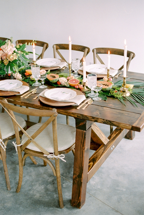 Organic Wedding Decor | Indoor Tropical Wedding Inspiration by Kerry Jeanne Photography