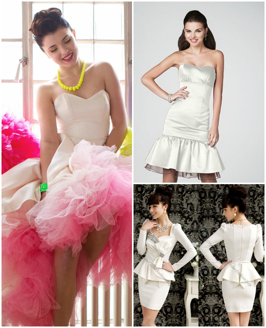 80's-inspired-short-wedding-dresses