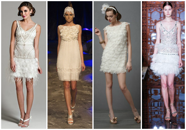 Vintage-1920's-inspired-short-wedding-dresses