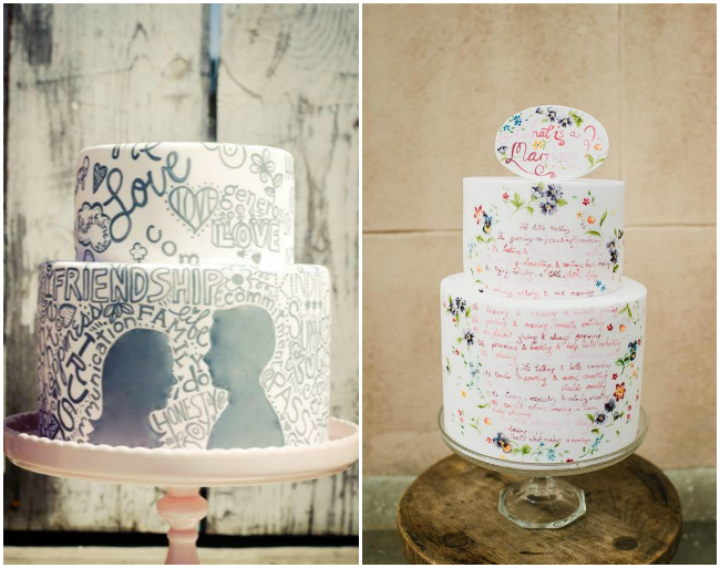 wedding-cakes-with-painted-words