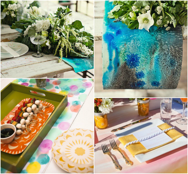watercolor-table-runners