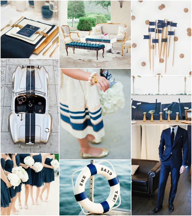 Nautical Luxe: navy and gold inspiration