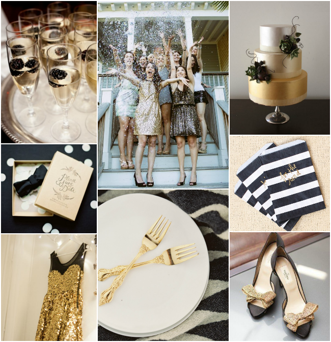 Sophisticated soirée: Black and Gold Inspiration