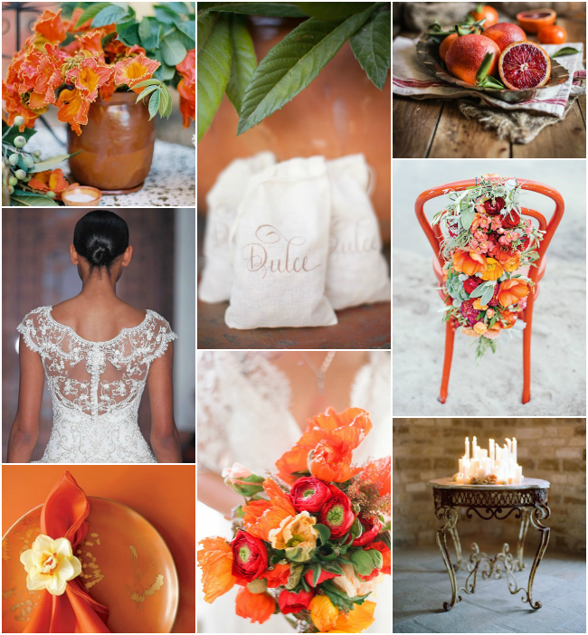 Caribbean and Latin American Fusion: Orange, red, green and brown palette