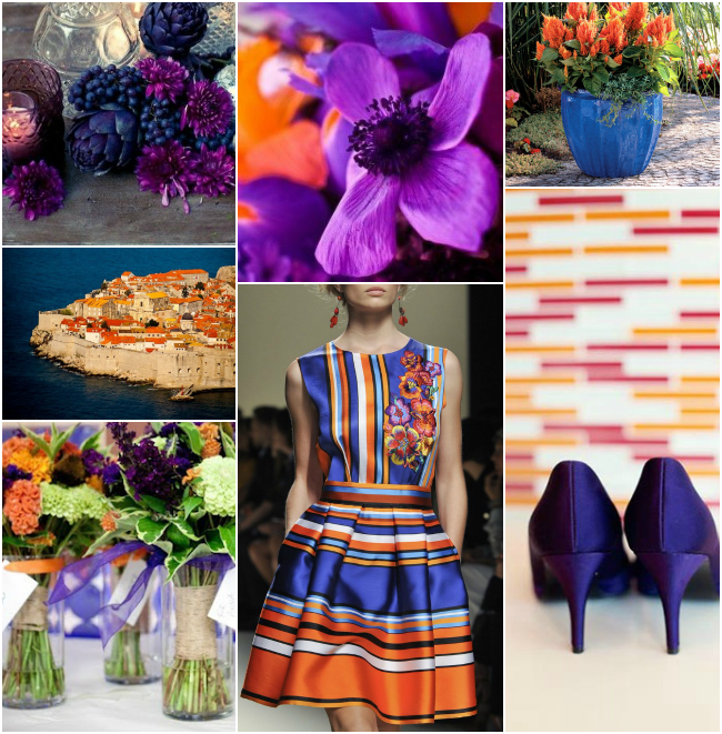 Pantone Celosia Orange, Radiant Orchid and a Dash of Dazzling Blue